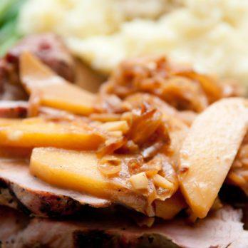 Recette facile de côtelettes de porc aux pommes