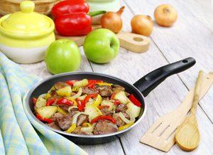 Recette de poulet grillé aux pommes et au fromage Stilton