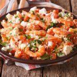 Recette santé: crevettes, tomates et feta à la grecque
