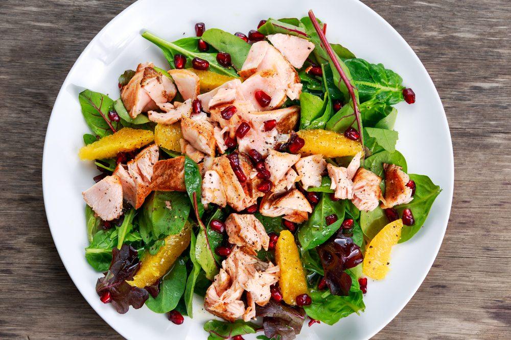 Une idée repas pour les lunchs de salade à la dinde