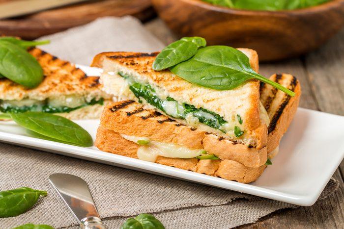 Une recette de sandwich rapide aux épinards