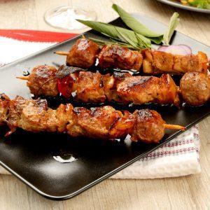 Brochettes de dinde grillée à l'orientale