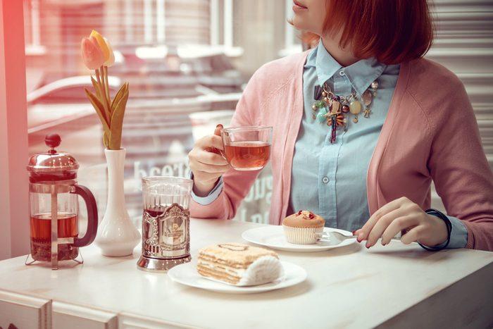 Mangez lentement et accompagnez le tout d'un thé ou d'un café.