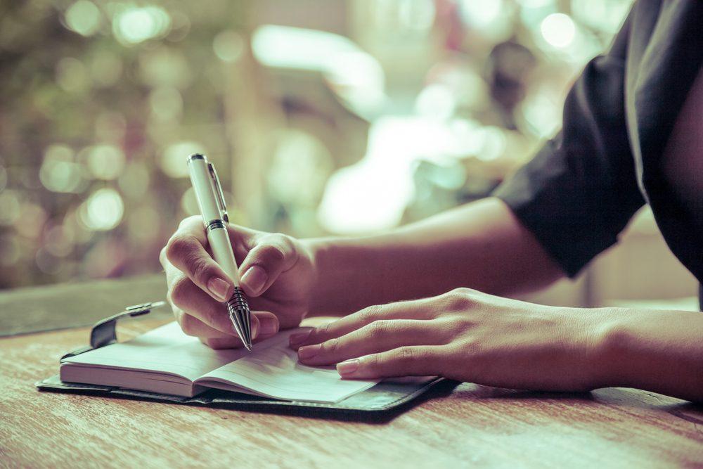 Conseil anti-stress : tenez un journal.