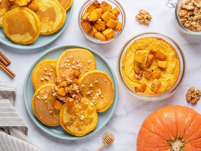 Délicieuse recette de crêpes de citrouille.