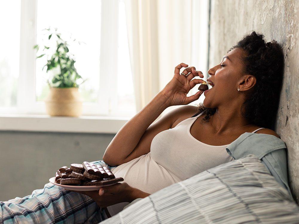 Les bienfaits du chocolat: il peut soulager les symptômes du SPM.