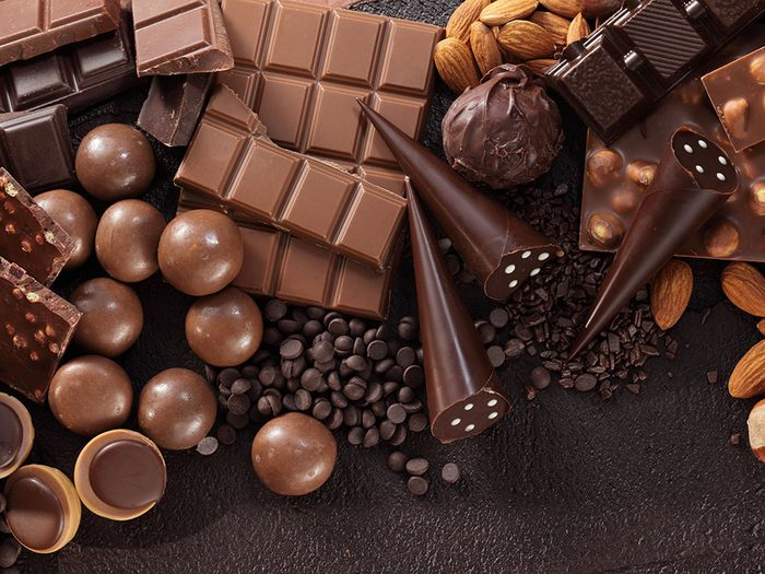 Les bienfaits du chocolat: il est riche en antioxydants.