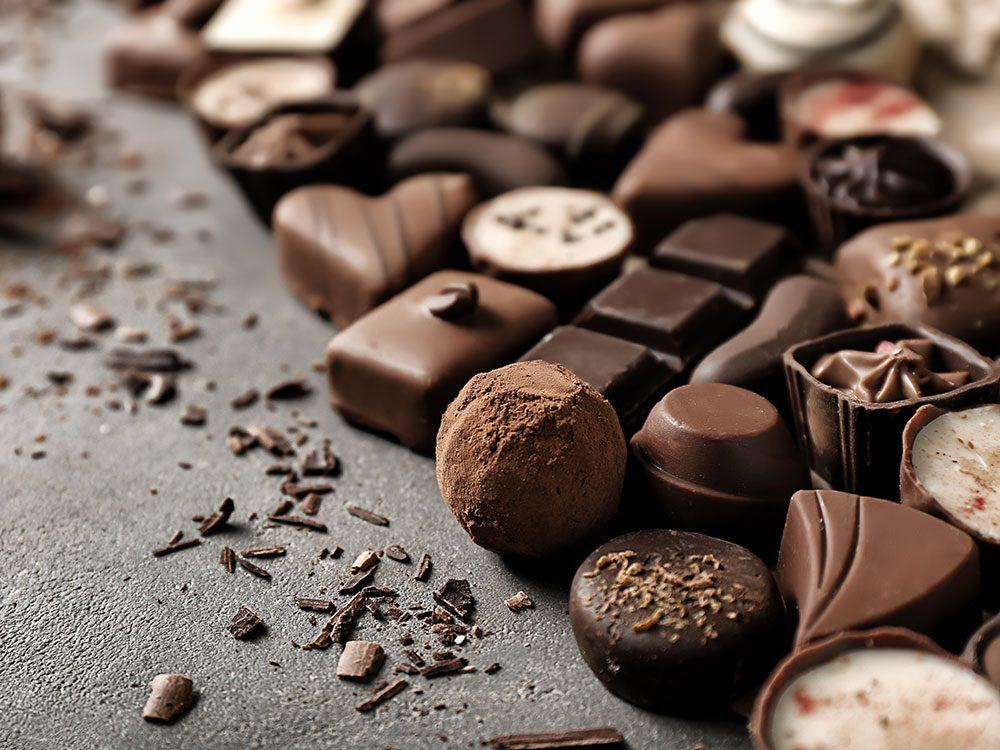 Les bienfaits du chocolat: il pourrait soulager la douleur.