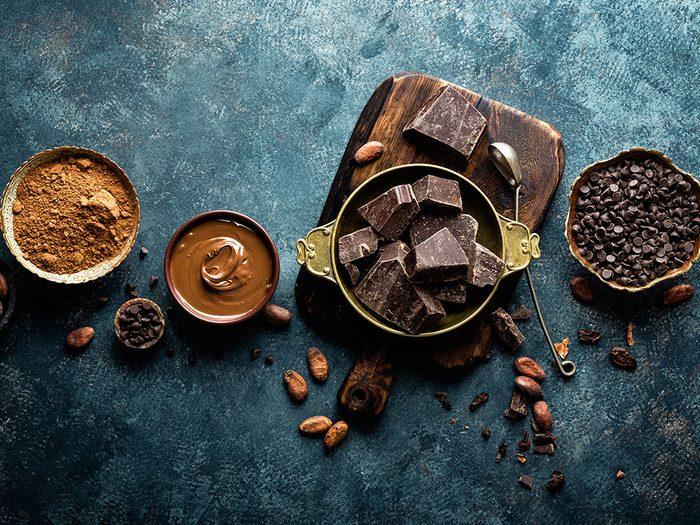 Les bienfaits du chocolat: il contribue à prévenir la cardiopathie.
