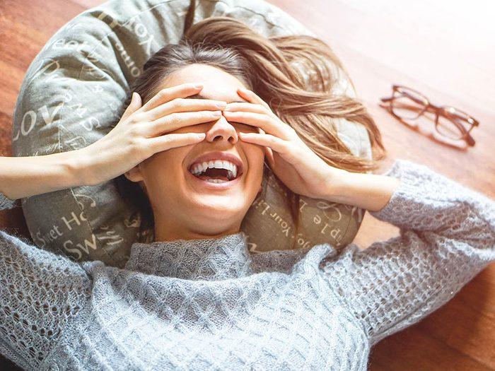 Les bienfaits du rire: il permet de brûler des calories.