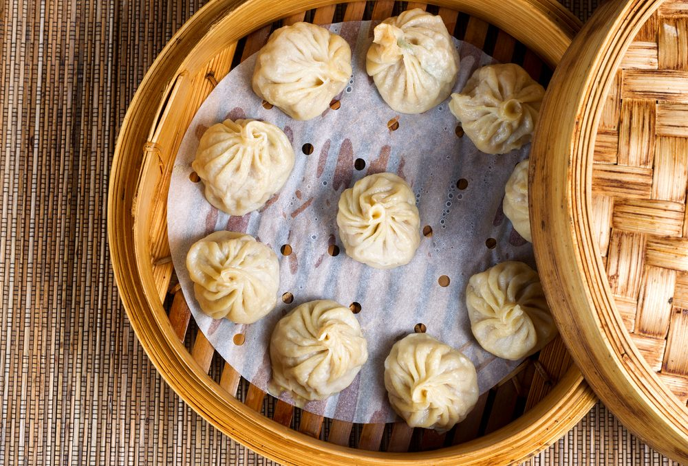 Déjeuner traditionnel de chine: Dim sum.