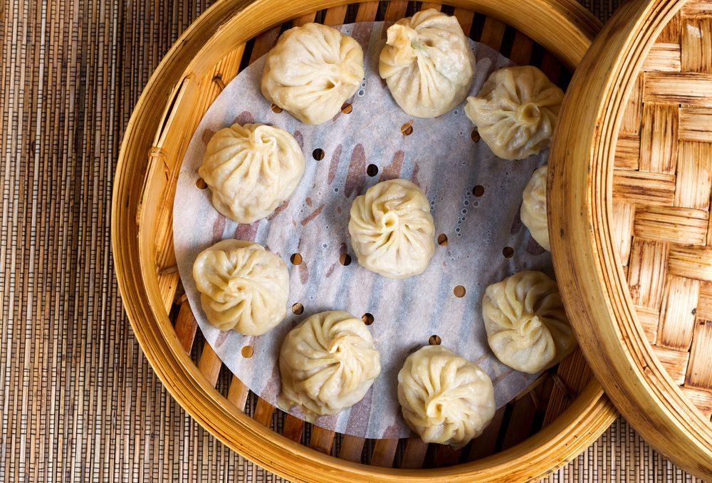 Déjeuner traditionnel de chine: Dim sum.