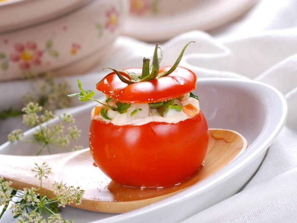 Recette de tomates farcies.