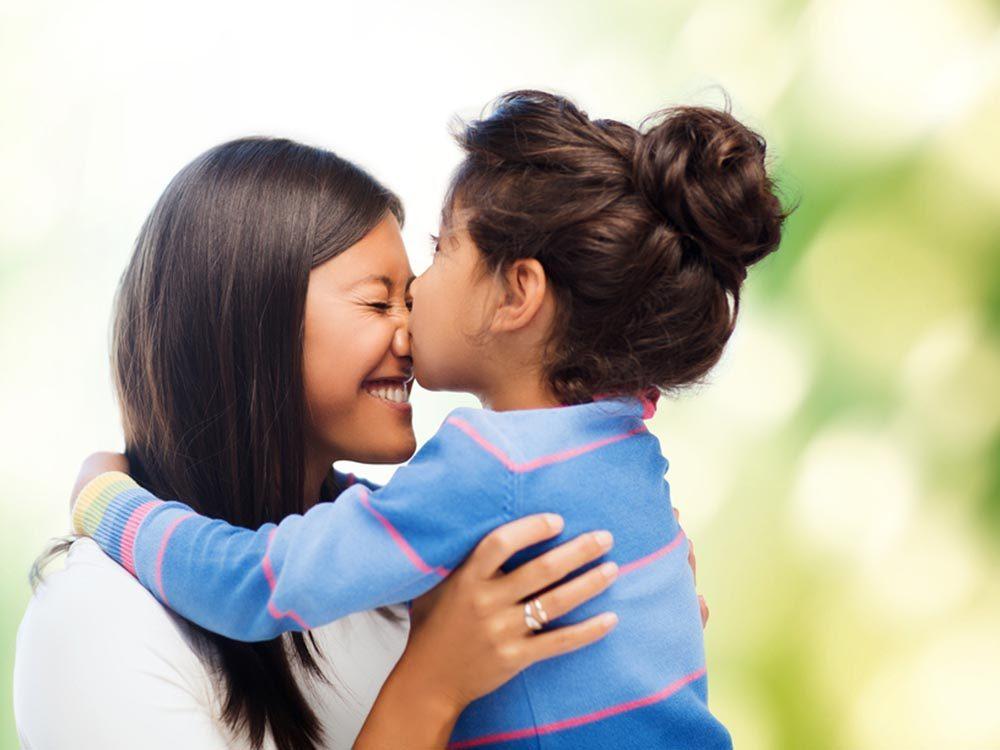 Pour se détendre, embrassez vos enfants chaque matin.