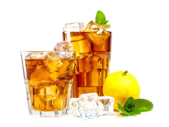 Le thé glacé commercial est mauvais pour la santé.
