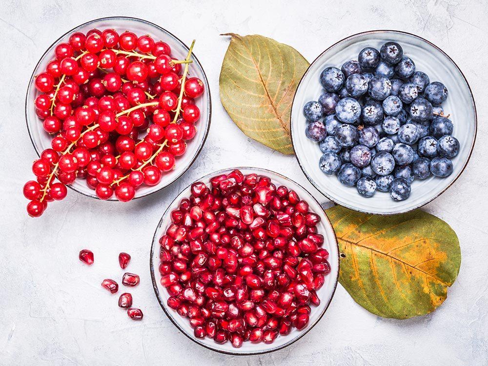 Pour mieux vivre, faites le plein d'antioxydants.