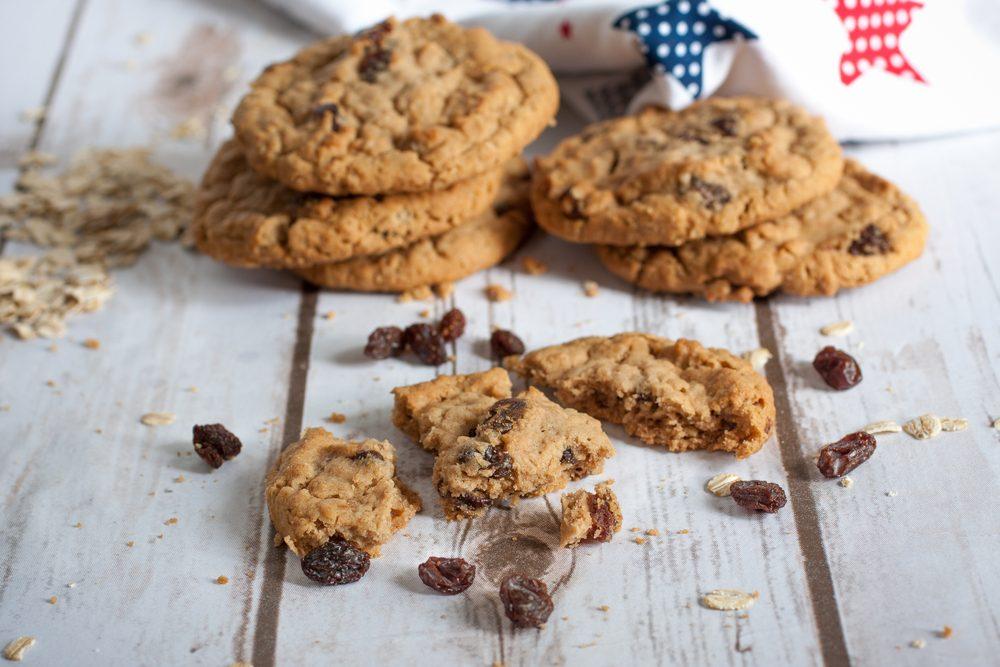 Une recette santé de biscuits aux raisins