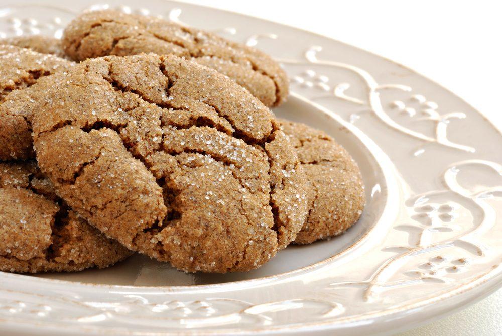 Une recette santé de biscuits à la mélasse et au gingembre