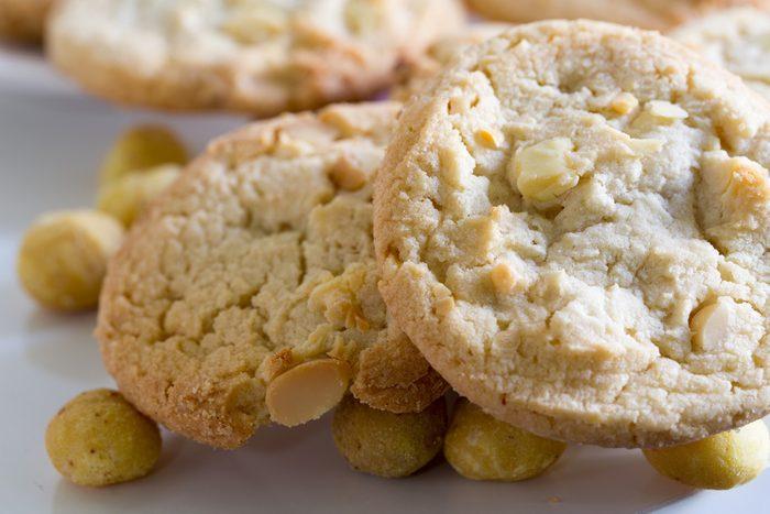 Une recette santé de biscuits aux noix de Macadam.