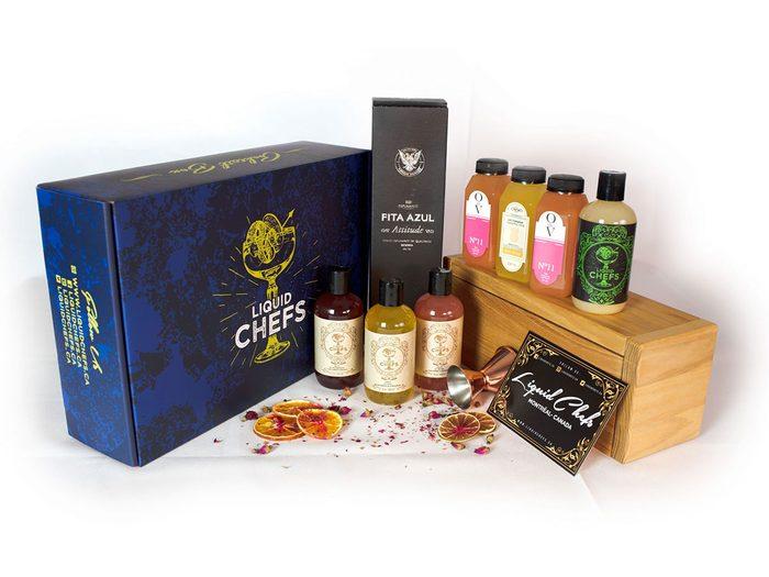 Des boîtes à cocktails en tant qu'idées de cadeaux pour la fête des Pères.