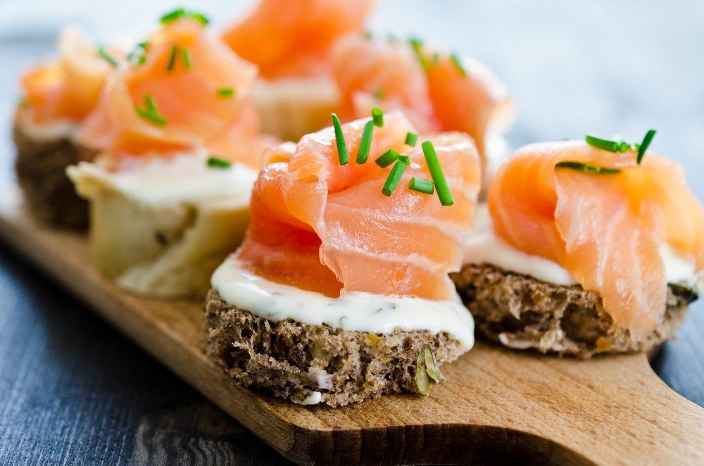 Une recette aphrodisiaque de canapés au saumon