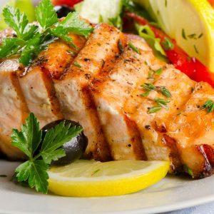 Saumon grillé mariné au xérès