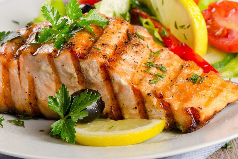 Une recette à base de citron de saumon