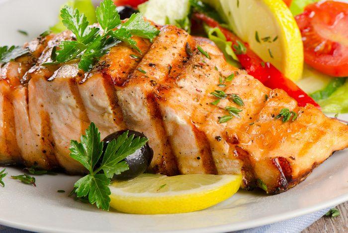 Une recette de saumon grillé.