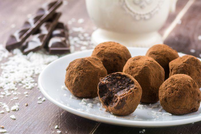 Des truffes au chocolat
