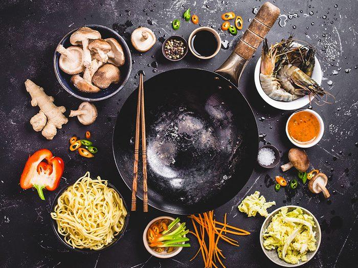 Essayez les champignons au wok pour un souper rapide.