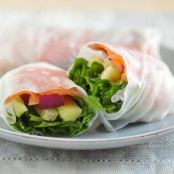 Rouleaux de salade thaïe