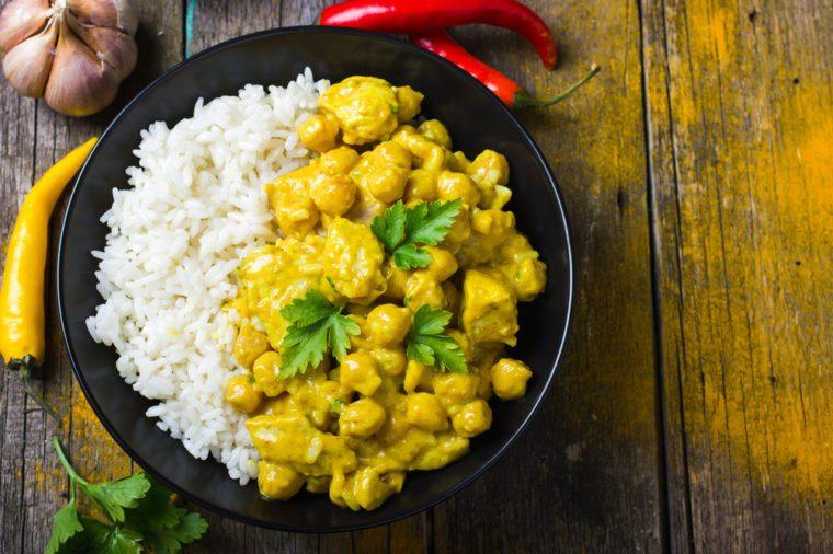 Une recette de lunch pour le thermos de curry à l'indienne.