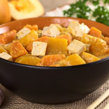Curry de patates douces au tofu