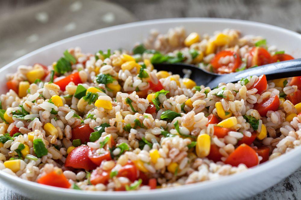 Une des meilleures recettes végétariennes au farro