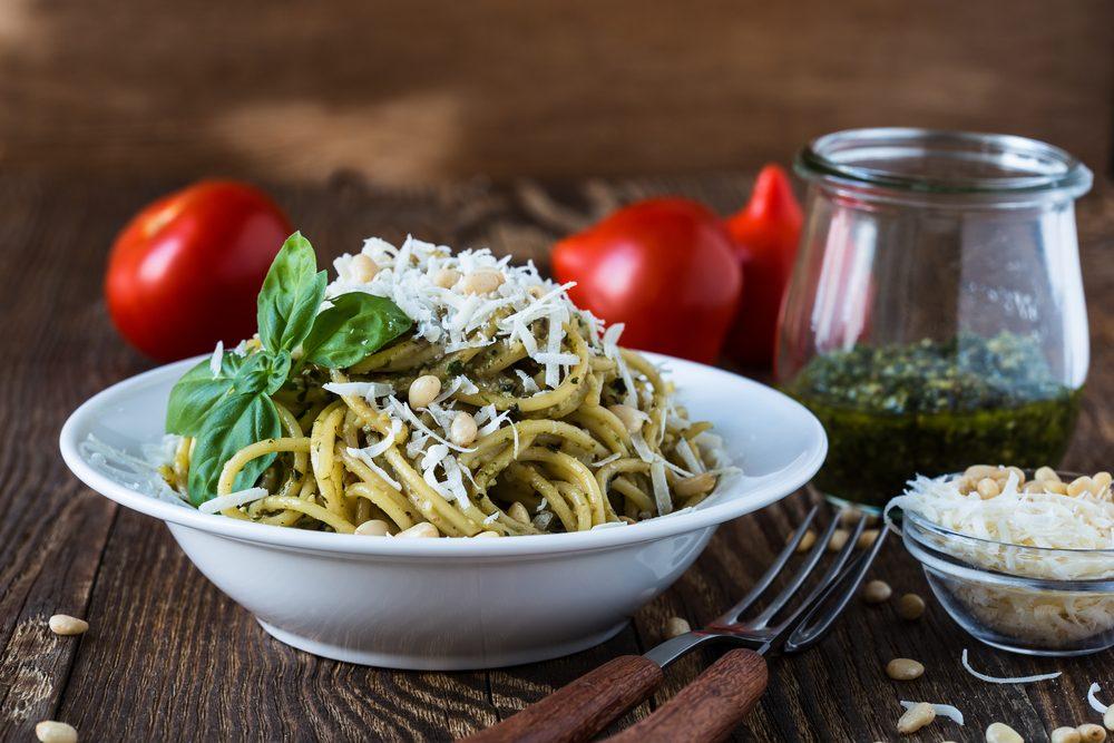 Une des meilleures recettes végétariennes de linguine