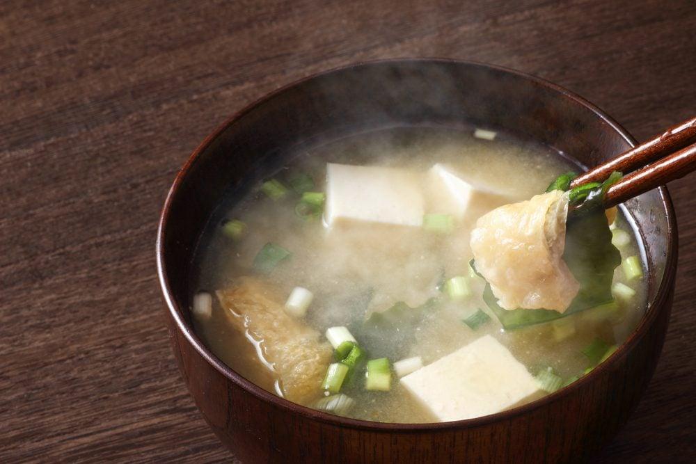 Une recette pour emporter dans le thermos de soupe miso