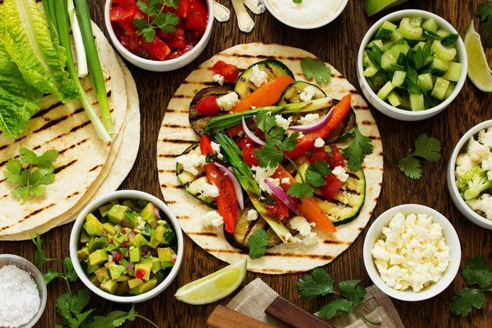 Une des meilleures recettes végétariennes de tacos aux légumes