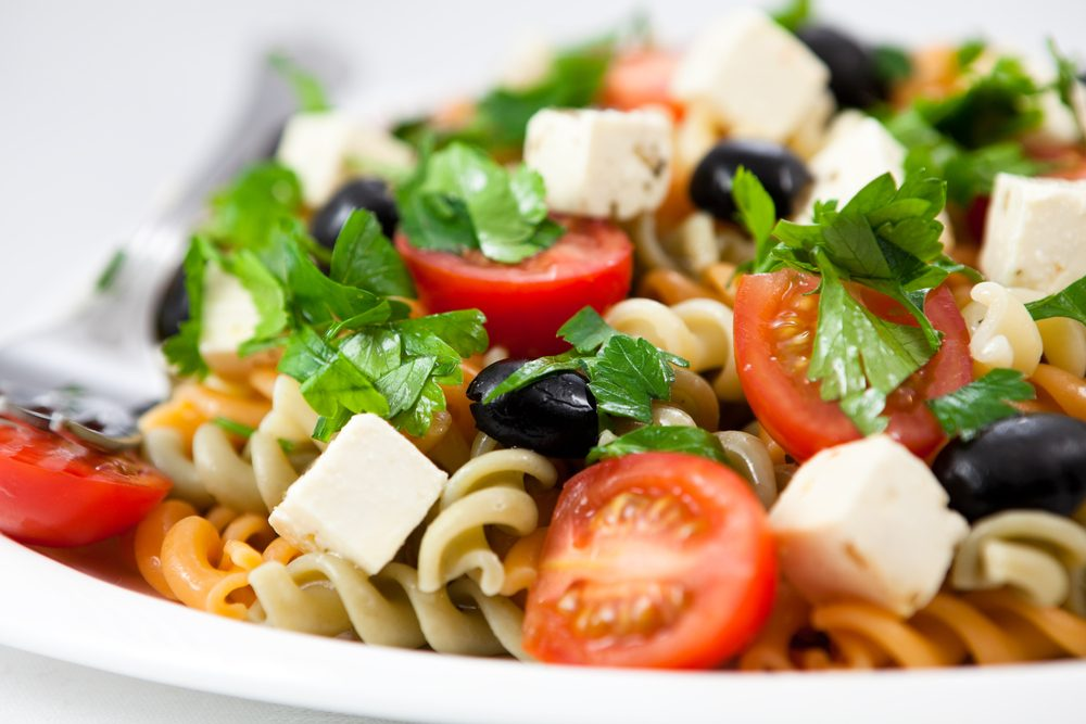 Une recette santé pour les hommes de salade de pâtes