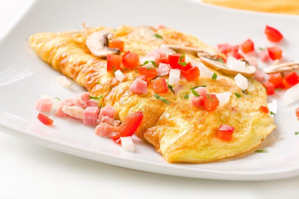 Une recette santé d'omelette faites de blancs d'oeuf