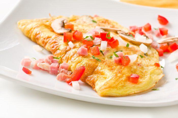 Une recette santé d'omelette faites de blancs d'oeuf.