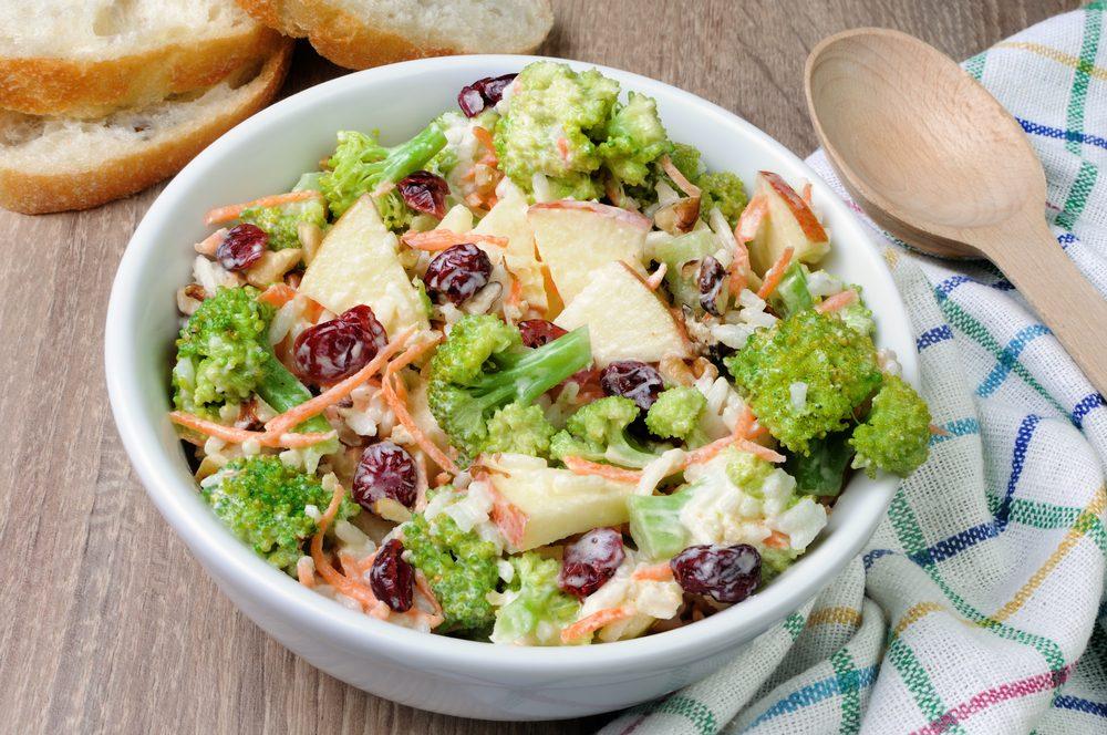 Une recette santé aux pommes de salade