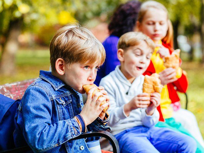 Utilisez les restants de repas pour le lunch de vos enfants.