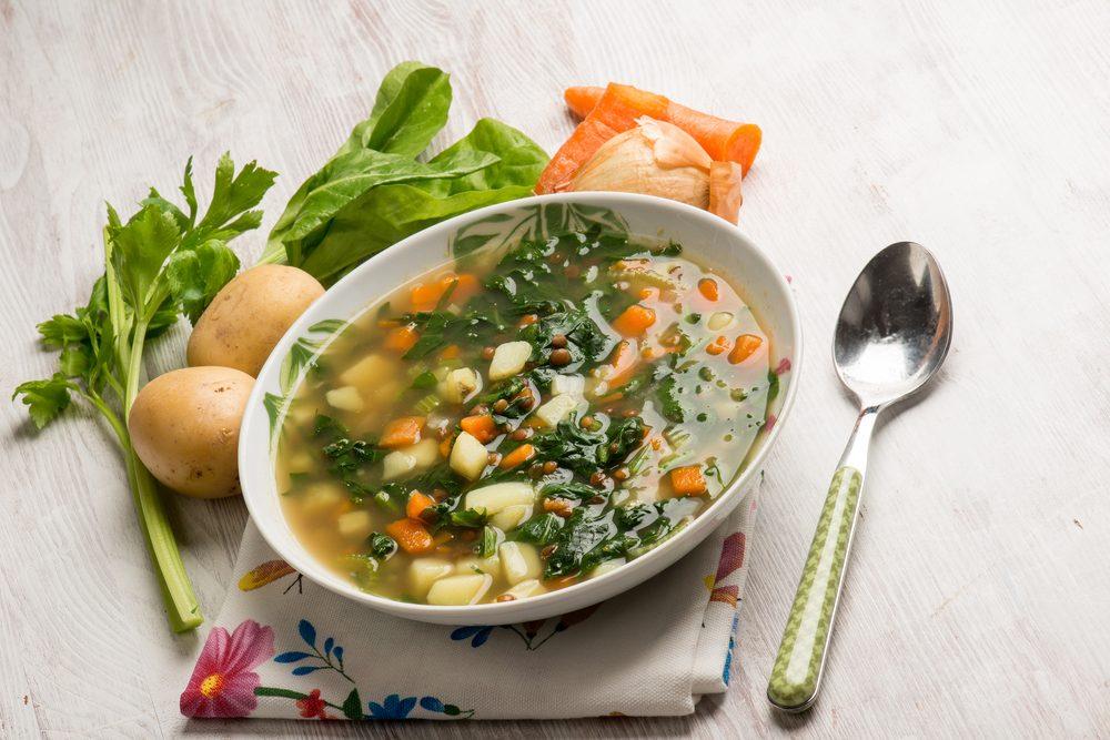 Une recette de soupe aux légumes santé
