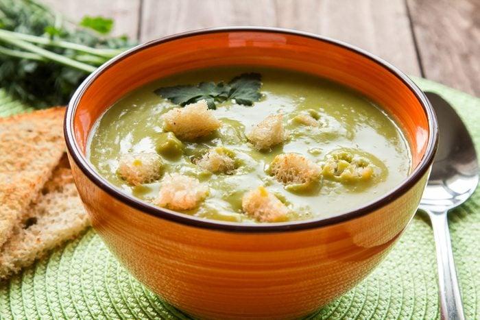 Une recette de soupe aux pois santé