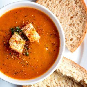 Soupe réconfortante aux tomates