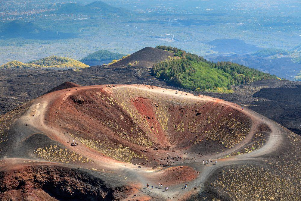 Volcan Etna, en Italie.