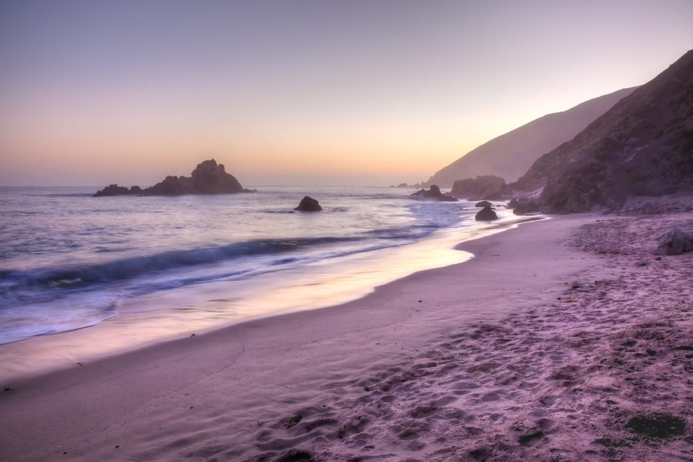 Une plage sublime en Californie.