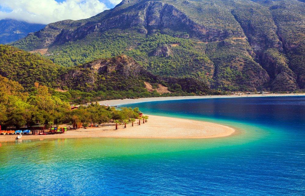 Une des plus belles plages en Turquie.