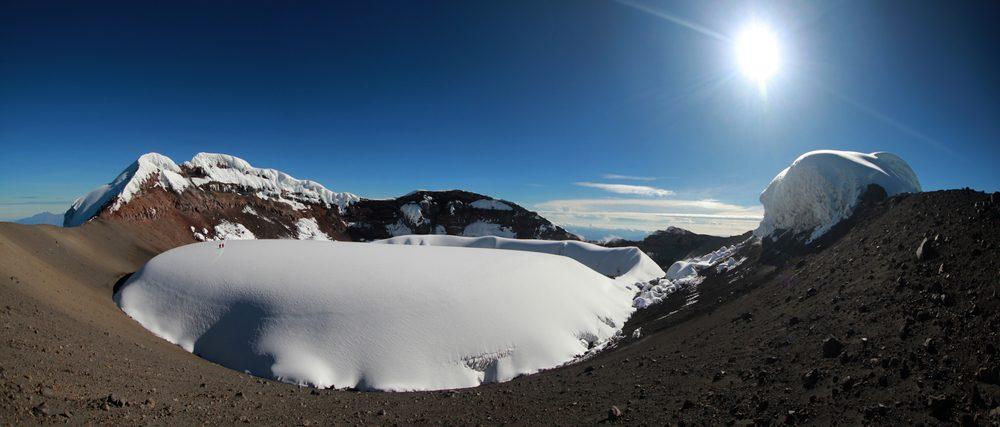 Volcan en Équateur.