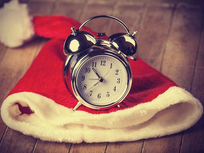 Maintenez votre calendrier de sommeil pendant les fêtes.